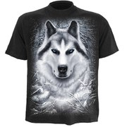 Spiral Men's WHITE WOLF T-Shirt - Black