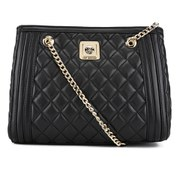 Love Moschino Women's Quilted Shoulder Bag with Chain Strap - Black