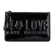 Love Moschino Women's LOVE Patent Clutch Bag - Black