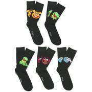 Muppets Men's 5 Pack Socks - Black