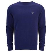 GANT Men's Cotton Crew Knit Jumper - Royal Blue
