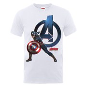 Marvel Avengers Men's Age of Ultron Captain America T-Shirt - White
