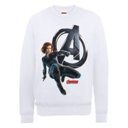 Marvel Avengers Age of Ultron Black Widow Sweatshirt - White