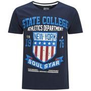 Soul Star Men's Falgone T-Shirt - Navy