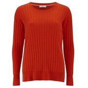 Paul by Paul Smith Women's Rib Crew Neck Knitted Jumper - Orange