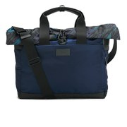 Paul Smith Accessories Men's Oz Marble Print Folio Messenger Bag - Navy