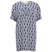 Peter Jensen Women's Bow Cocoon Dress - Rabbit Head Navy