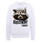 Marvel Guardians of the Galaxy Don't Call Him A Raccoon Sweatshirt - White