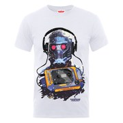 Marvel Guardians of the Galaxy Men's Star-Lord Cassette T-Shirt - White