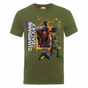 Marvel Guardians of the Galaxy Men's Team Pose T-Shirt - Olive
