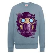 Marvel Guardians of the Star-Lord Mask Sweatshirt - Indigo Blue