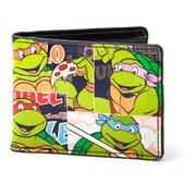 Teenage Mutant Ninja Turtles Retro Vintage Classic Turtles Bi-Fold Wallet
