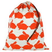 Anorak Kissing Rabbits Laundry Bag - Orange/Blue