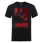 Star Wars Men's Evil Anakin Art Poster T-Shirt - Black