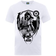 Star Wars Men's Darth Vader Shield T-Shirt - White