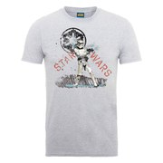Star Wars Men's Stormtrooper Distressed T-Shirt - Heather Grey
