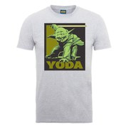 Star Wars Men's Yoda Art Poster T-Shirt - Heather Grey
