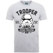 Star Wars Zavvi Exclusive May the 4th be with you Stormtrooper Face Collegiate Puff T-Shirt - Grey