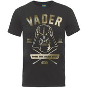 Star Wars Zavvi Exclusive May the 4th be with you Yoda Darth Vader Face Collegiate Foil T-Shirt - Black
