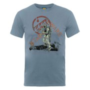 Star Wars Men's Boba Fett Distressed T-Shirt - Steel Blue