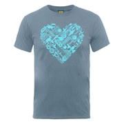 Star Wars Men's Heart Montage T-Shirt - Steel Blue