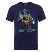 Star Wars Men's Chewbacca Distressed T-Shirt - Navy