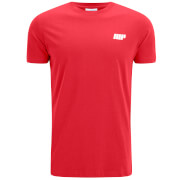 Myprotein Men's Longline Short Sleeve T-Shirt, Red