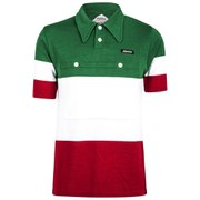 Santini 60s Campione D'Italia Heritage Series Polo Shirt - Red/white/Green