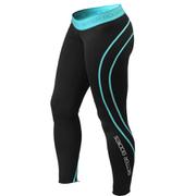 Better Bodies Athlete Tights - Black/Aqua