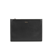 Paul Smith Accessories Women's Triple Zip Leather Clutch Bag - Fawn