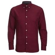 Produkt Men's DEK 83 Long Sleeved Check Shirt - Red Dahlia