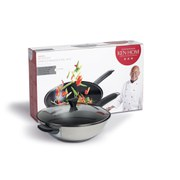 Ken Hom Performance Non Stick Stainless Steel 2 Piece Wok Set (32cm)