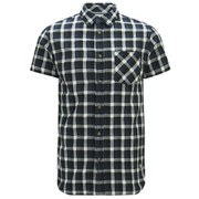 Jack & Jones Men's Originals Ray Checked Short Sleeve Shirt - Navy Blazer