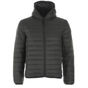 REPLAY Men's Padded Zipped Jacket - Dark Warm Grey