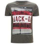 Jack & Jones Men's Core Look Crew Neck T-Shirt - Grey Melange