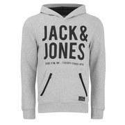 Jack & Jones Men's Core Strack Sweat Hoody - Treated White