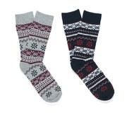 Jack & Jones Men's Nava 2-Pack Socks - Black - One Size