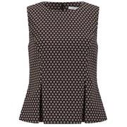 Diane von Furstenberg Women's Mallorie Top - Black/Ivory/Pink Ice