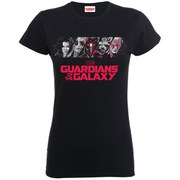 Marvel Women's Guardians of the Galaxy Team Logo T-Shirt - Black