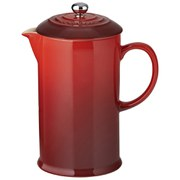 Le Creuset Stoneware Cafetiere with Metal Press, 750ml - Cerise