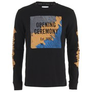 Opening Ceremony Men's Marker Logo Long Sleeve T-Shirt - Black/Multi