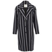 Selected Femme Women's Cocoana Striped Coat - Stripe