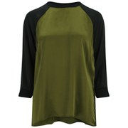 Gestuz Women's Bless Contrast Panel Top - Khaki