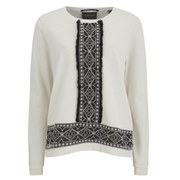 Maison Scotch Women's Embroidered Sweatshirt - White