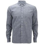 YMC Men's Heavy Cotton Long Sleeve Shirt - Blue