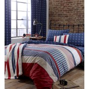 Catherine Lansfield Stars and Stripes Fitted Sheet - Multi