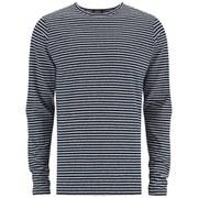 A.P.C. Men's Breton Stripe Long Sleeve T-Shirt - Navy