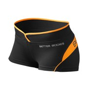Better Bodies Women's Shaped Hot Pants - Black/Orange