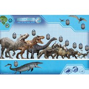 Jurassic World Size Chart - 24 x 36 Inches Maxi Poster