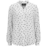 Maison Scotch Women's Drape Shirt with Allover Print - White